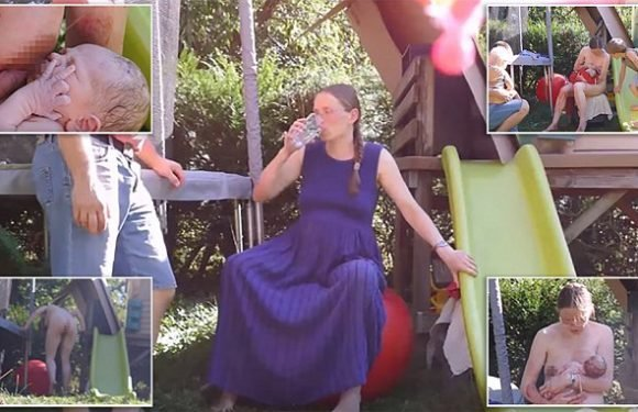 Mother gives birth in garden while broadcasting labour to the world