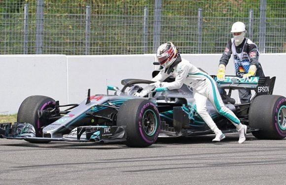 Hamilton forced to PUSH car in qualifying as Vettel takes German pole