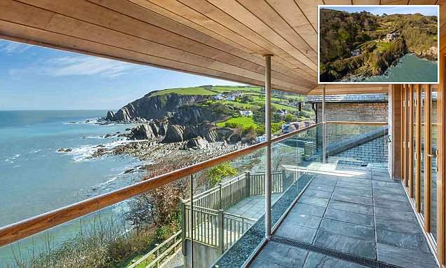 Cliffside home with spectacular sea views goes on market for £3million