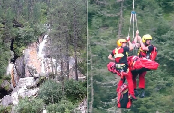 British hiker severely injured after plummeting 80 feet from waterfall