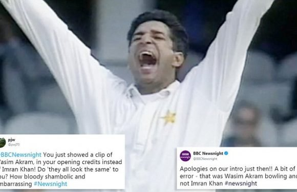 BBC Newsnight broadcasts wrong cricketer in package about Imran Khan