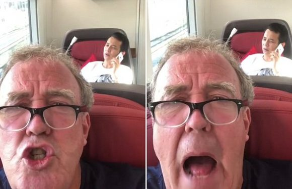 Jeremy Clarkson vents frustration with 'loud' passenger on a train