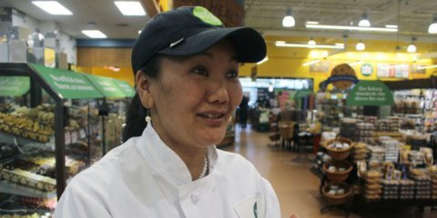This record-breaking Everest climber has reached the summit nine times. She makes $11.50 per hour washing dishes at Whole Foods.
