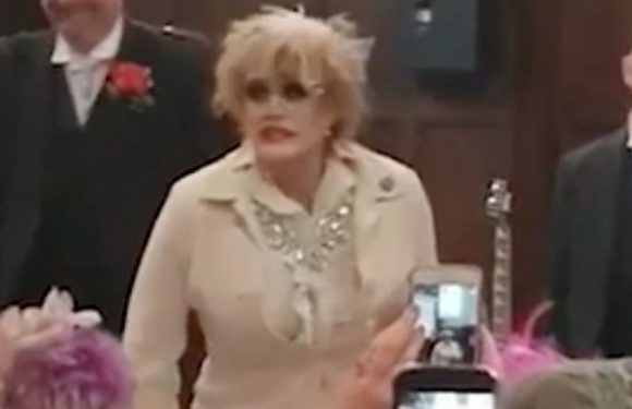 """Wedding interrupted by drag act singing """"It should have been me!"""""""