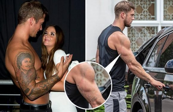 Dan Osborne's massive Michael Jackson tattoo is almost gone after painful laser removal treatment