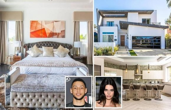Kendall Jenner moves to £19,000 a MONTH house with boyfriend Ben Simmons two weeks after snogging Bella Hadid's brother at a party