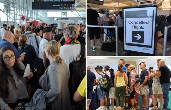 Chaos at Stansted for a third day as Ryanair cancels MORE flights and Britain's wild weather wreaks havoc across Europe
