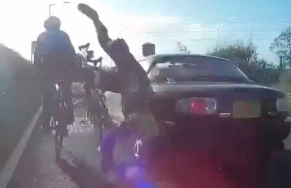 Motorist, 81, crashes into cyclists leaving one rider unconscious