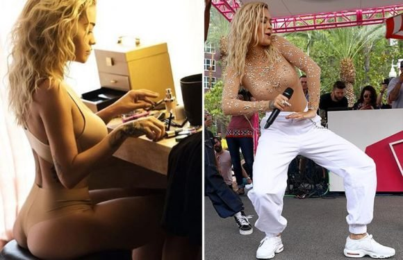Lovely Rita Ora shows her class – and more – as she prepares to wow fans in Las Vegas