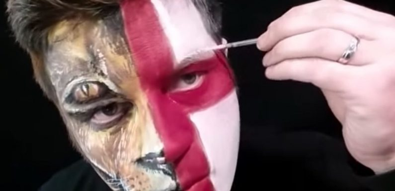 How to face paint an English flag or a Lion ahead of World Cup match