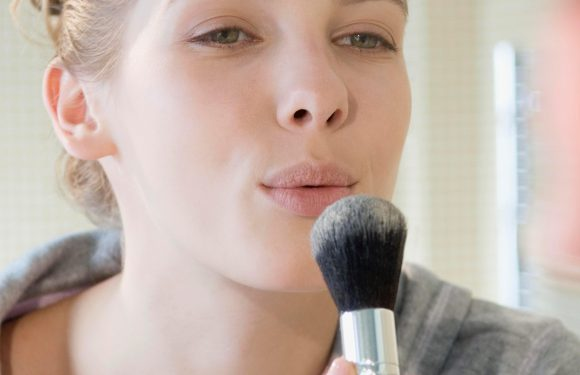 This is why you should never blow excess product off your make-up brushes