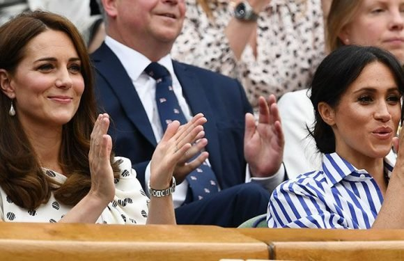 Kate Middleton And Meghan Markle Look Stylish As They Cheer On Meghan's Friend Serena Williams At Wimbledon
