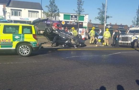 Six people, including child, rushed to hospital after 'major' crash in Belfast