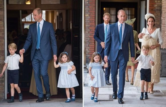 Did you spot Prince George's adorable gesture to mum Kate as they left Prince Louis' christening?