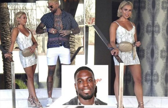 Gabby Allen spotted with hunky model Chris Perceval in Ibiza after split with Marcel Somerville