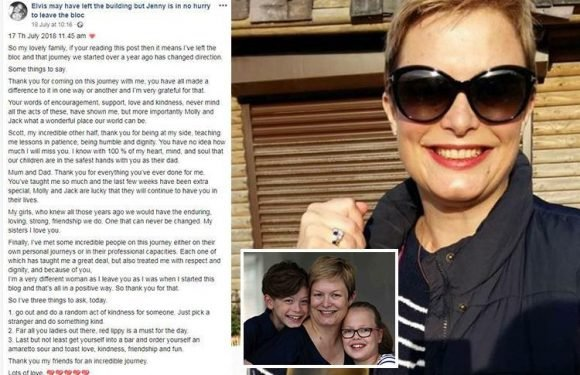 Mum who lost year-long battle with bowel cancer shares heartbreaking Facebook message from beyond the grave – telling husband 'you'll never know how much I miss you'