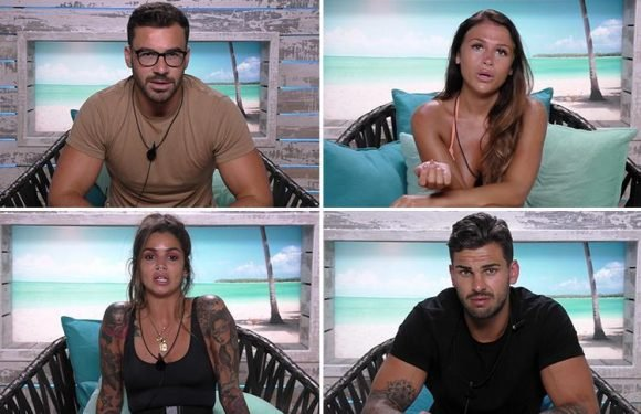 Love Island fans stunned as Adam Collard, Alex Miller, Darylle Sargeant and Ellie Jones all get booted in epic dumping