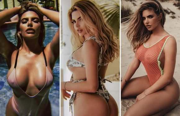Love Island's Muggy Megan sizzles in mesh swimwear for photoshoot at villa in France