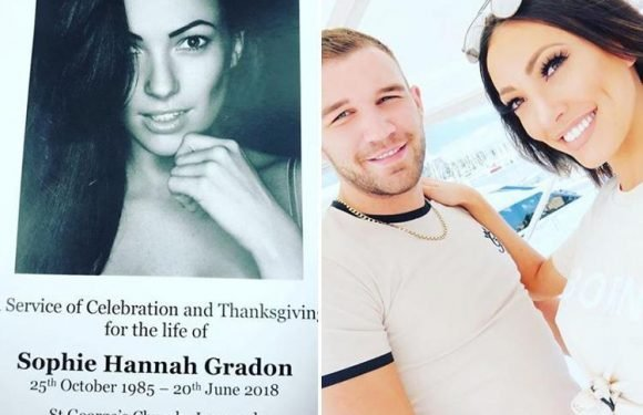 Love Island's Sophie Gradon laid to rest at funeral as heartbroken boyfriend pays tribute to his 'beautiful angel'