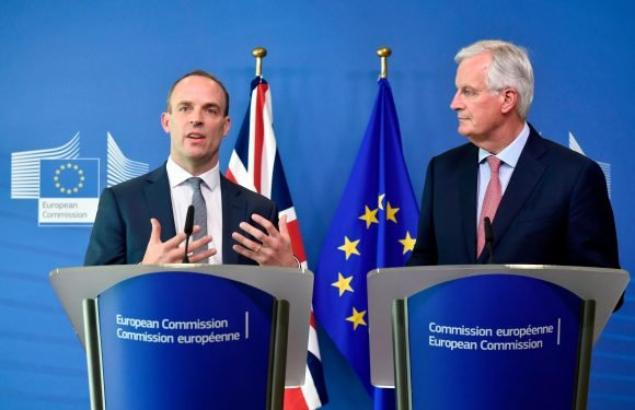 Dominic Raab gives Brexit rallying cry ahead of crunch talks with Michel Barnier to press EU to approve PM's Chequers deal