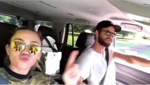 Liam Hemsworth makes Miley Cyrus jump in funny new video after rumours the couple had broken off their engagement