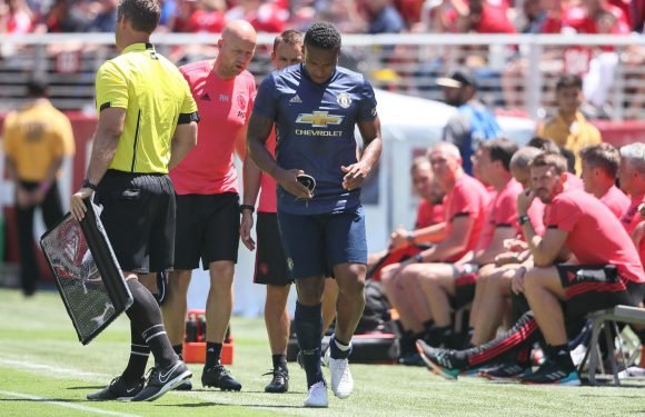 Antonio Valencia limps off injured for Manchester United with apparent calf problem just seven minutes into San Jose friendly