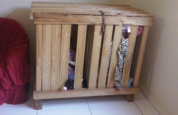 Three-year-old twins locked inside tiny wooden box while parents went to work