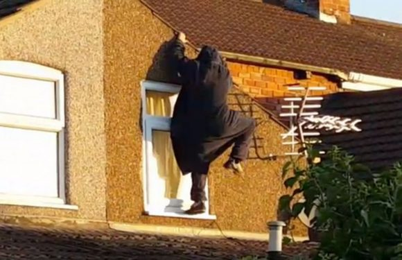 Phantom pyjama prowler dubbed 'Spiderman' scales rooftops at the crack of dawn