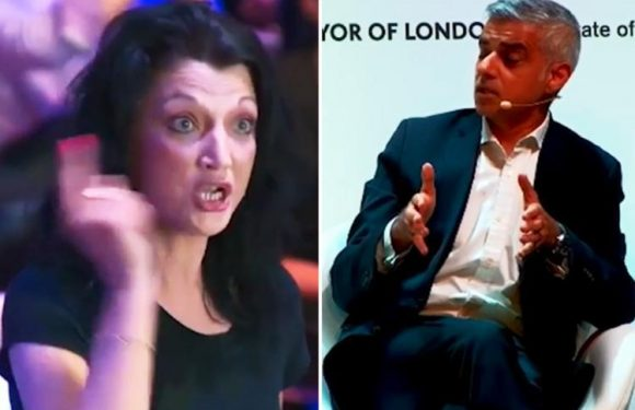 Furious mum confronts Sadiq Khan saying she 'doesn't feel safe' in her city after violent crime spike
