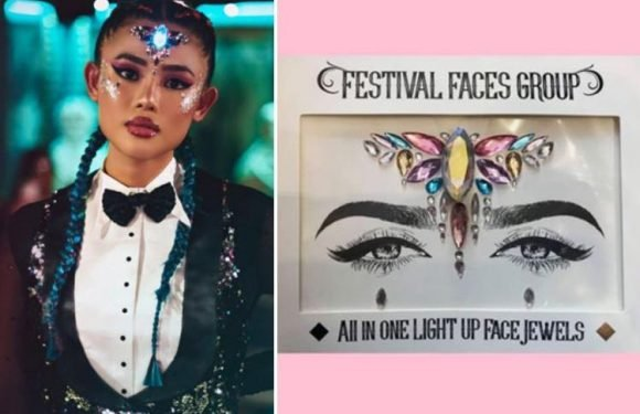 Light up face jewels are the latest must-have for festival season…and they'll keep you raving in style for just £15