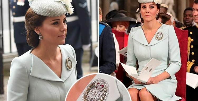 The special meaning behind Kate's brooch at the RAF ceremony at Westminster Abbey