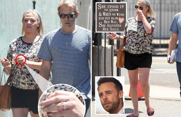 Lisa Armstrong puts her wedding ring from Ant McPartlin back ON and 'likes' emotional message about marriage split