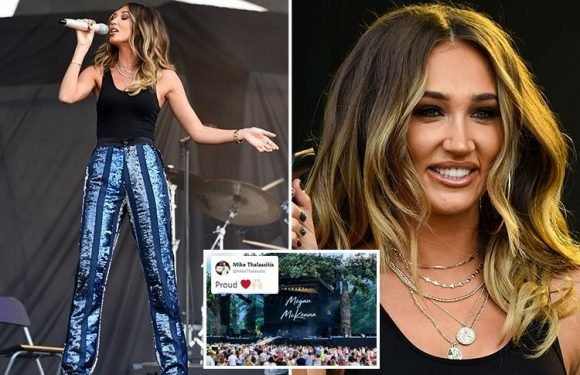 Mike Thalassitis posts gushing message about his girlfriend Megan McKenna after she supports Michael Bublé at Hyde Park