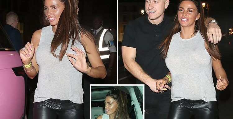 Katie Price looks worse for wear as she heads home after wild night out with boyfriend Kris Boyson in Brighton