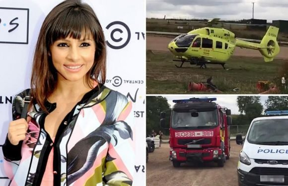 Roxanne Pallett blacks out and is airlifted to hospital as she cheats death in horror stock car smash