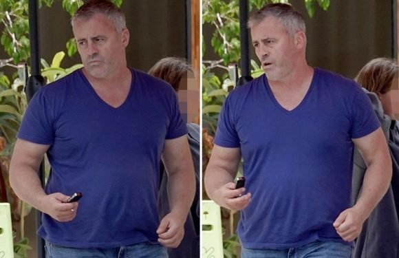 Matt LeBlanc looks glum as he heads out to lunch with his daughter in Los Angeles