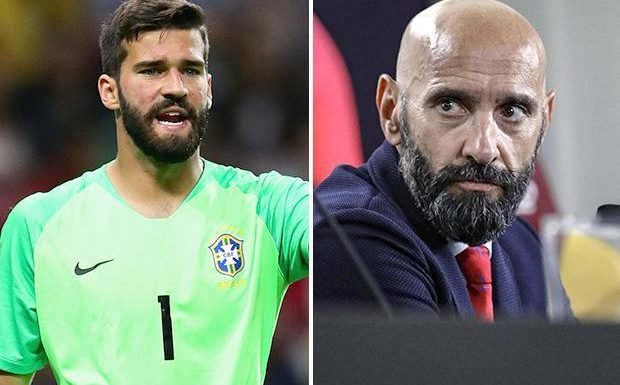 Liverpool paying 'way above market average' for Alisson says Roma sporting director Monchi who compares deal to losing Wojciech Szczesny