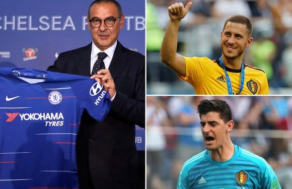 Chelsea boss Maurizio Sarri wants face-to-face showdown talks with Eden Hazard and Thibaut Courtois as he battles to keep them out of Real Madrid's clutches