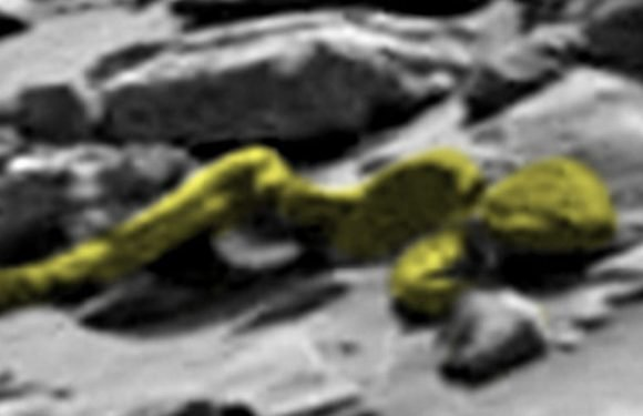Conspiracy theorists claim to spot alien on Mars – and even think it has a penis