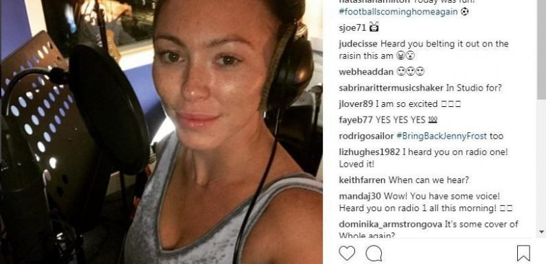 Atomic Kitten record Whole Again as World Cup song and snub Kerry Katona again