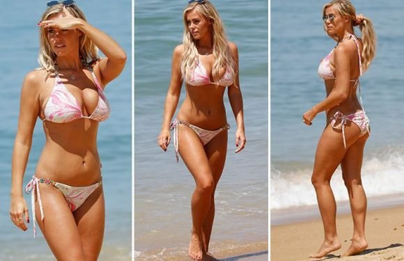 Towie's Chloe Meadows soaks up the sun in Portugal