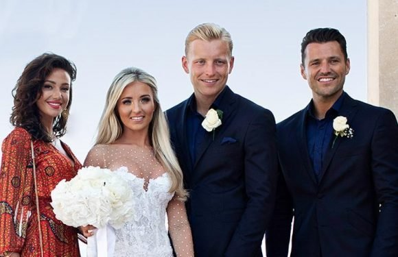 Mark Wright is on best man duties as Michelle Keegan joins him at his brother Josh's wedding