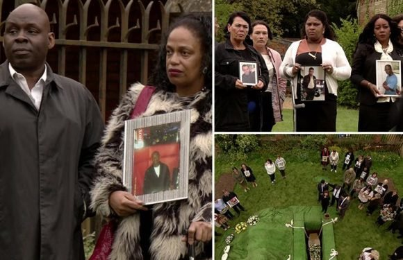 EastEnders viewers in tears as real knife crime victims' families appear in heartbreaking Shakil funeral scene