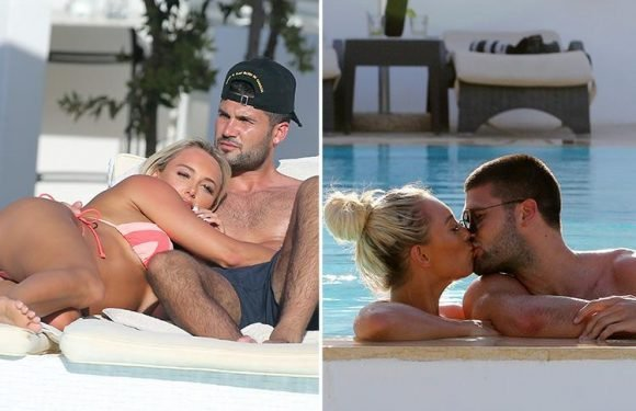 Towie's Amber Turner and Dan Edgar kiss during loved up holiday in Majorca