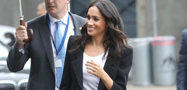 Meghan Markle Just Wore a Pantsuit With Shoulder Pads, and You'll Immediately Want to Do the Same