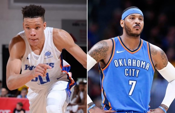 Is this Kevin Knox comment a dig at Carmelo Anthony?