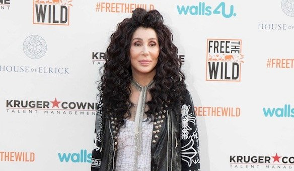 Cher recreates her old album cover at 'Mamma Mia 2' screening