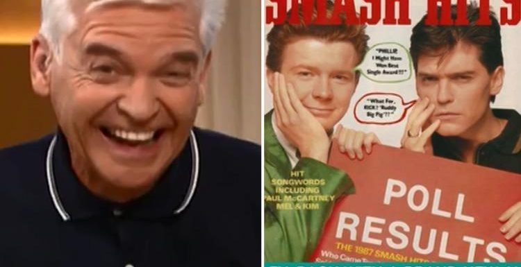 Phillip Schofield wears the same top 30 years after starring on Smash Hits magazine cover with guest Rick Astley