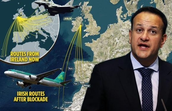 Ireland's PM has been branded 'mad' for threatening to stop British planes flying over Ireland as revenge for Brexit
