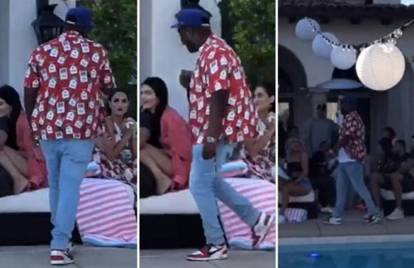Kendall Jenner cuddles up to basketball player Ben Simmons at sister Khloe Kardashian's Fourth Of July BBQ – The Sun